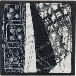 Day 57, Contemporary Textile Painting/ Abstract Modern Art Quilt, 100 Days Project, Artist Lisa Call, Waikanae Beach, Kapiti, New Zealand