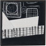Day 59, Contemporary Textile Painting/ Abstract Modern Art Quilt, 100 Days Project, Artist Lisa Call, Waikanae Beach, Kapiti, New Zealand