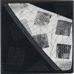 Day 5, Contemporary Textile Painting/ Abstract Modern Art Quilt, 100 Days Project, Artist Lisa Call, Waikanae Beach, Kapiti, New Zealand