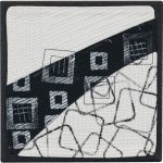 Day 61, Contemporary Textile Painting/ Abstract Modern Art Quilt, 100 Days Project, Artist Lisa Call, Waikanae Beach, Kapiti, New Zealand