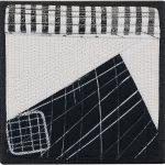 Day 66, Contemporary Textile Painting/ Abstract Modern Art Quilt, 100 Days Project, Artist Lisa Call, Waikanae Beach, Kapiti, New Zealand