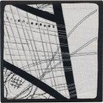 Day 68, Contemporary Textile Painting/ Abstract Modern Art Quilt, 100 Days Project, Artist Lisa Call, Waikanae Beach, Kapiti, New Zealand