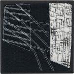 Day 70, Contemporary Textile Painting/ Abstract Modern Art Quilt, 100 Days Project, Artist Lisa Call, Waikanae Beach, Kapiti, New Zealand