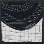 Day 73, Contemporary Textile Painting/ Abstract Modern Art Quilt, 100 Days Project, Artist Lisa Call, Waikanae Beach, Kapiti, New Zealand