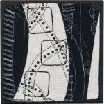 Day 76, Contemporary Textile Painting/ Abstract Modern Art Quilt, 100 Days Project, Artist Lisa Call, Waikanae Beach, Kapiti, New Zealand