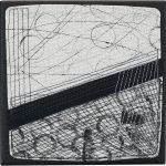 Day 7, Contemporary Textile Painting/ Abstract Modern Art Quilt, 100 Days Project, Artist Lisa Call, Waikanae Beach, Kapiti, New Zealand