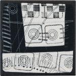 Day 81, Contemporary Textile Painting/ Abstract Modern Art Quilt, 100 Days Project, Artist Lisa Call, Waikanae Beach, Kapiti, New Zealand