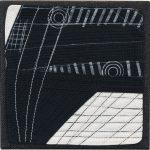 Day 85, Contemporary Textile Painting/ Abstract Modern Art Quilt, 100 Days Project, Artist Lisa Call, Waikanae Beach, Kapiti, New Zealand