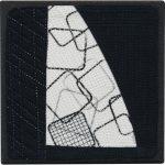 Day 89, Contemporary Textile Painting/ Abstract Modern Art Quilt, 100 Days Project, Artist Lisa Call, Waikanae Beach, Kapiti, New Zealand