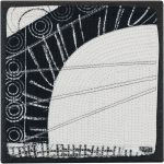 Day 94, Contemporary Textile Painting/ Abstract Modern Art Quilt, 100 Days Project, Artist Lisa Call, Waikanae Beach, Kapiti, New Zealand