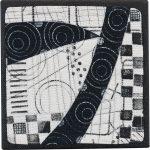 Day 96, Contemporary Textile Painting/ Abstract Modern Art Quilt, 100 Days Project, Artist Lisa Call, Waikanae Beach, Kapiti, New Zealand
