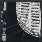 Day 98, Contemporary Textile Painting/ Abstract Modern Art Quilt, 100 Days Project, Artist Lisa Call, Waikanae Beach, Kapiti, New Zealand