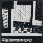 Day 99, Contemporary Textile Painting/ Abstract Modern Art Quilt, 100 Days Project, Artist Lisa Call, Waikanae Beach, Kapiti, New Zealand